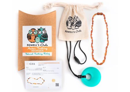 Powell's Owls Baltic Amber Teething Necklace Review