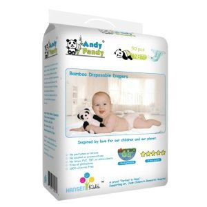 Andy Pandy Biodegradable Bamboo Disposable Diapers Review